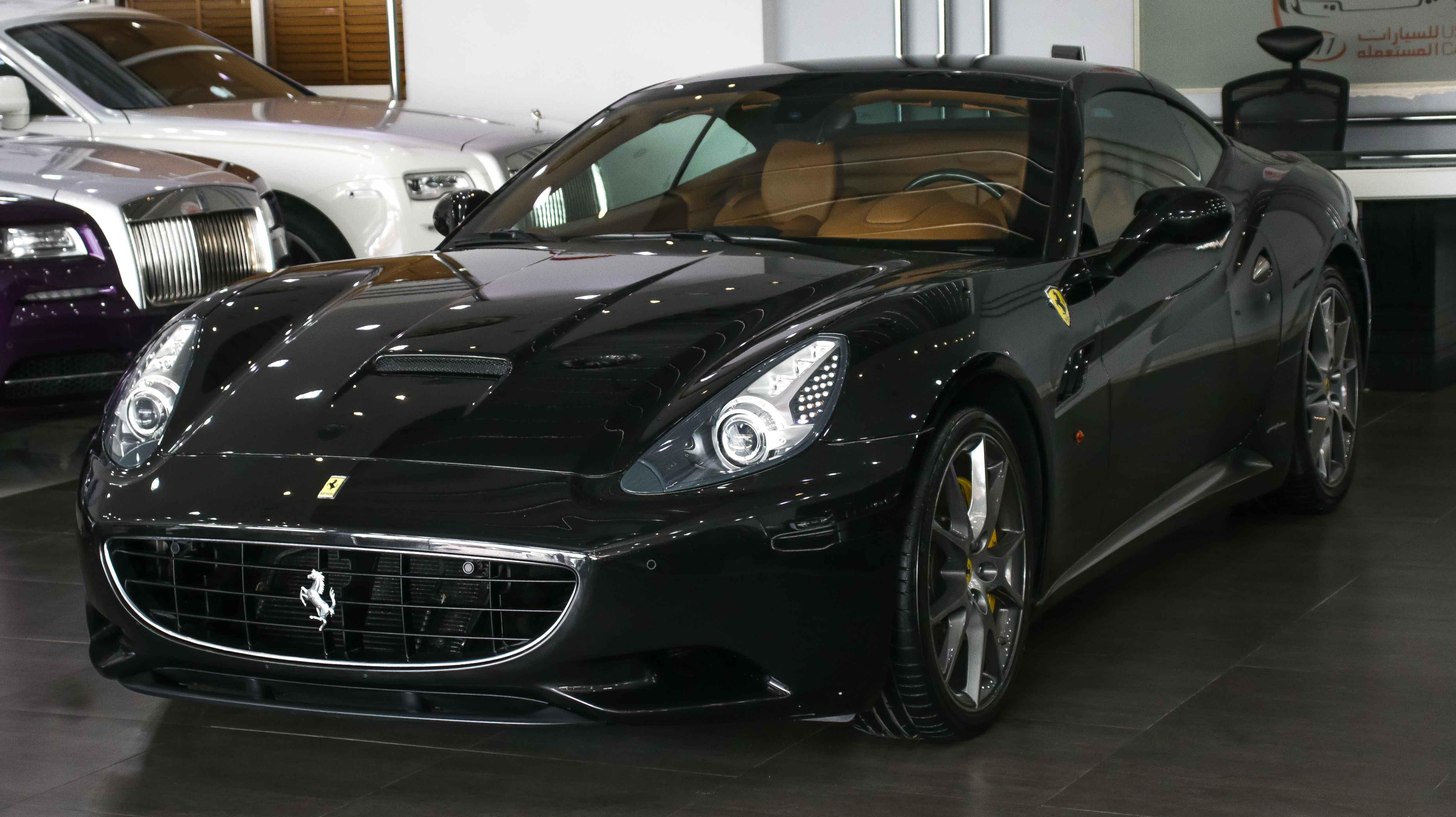 2010 Ferrari California Black Beige 01 Kargal Dealers Uae