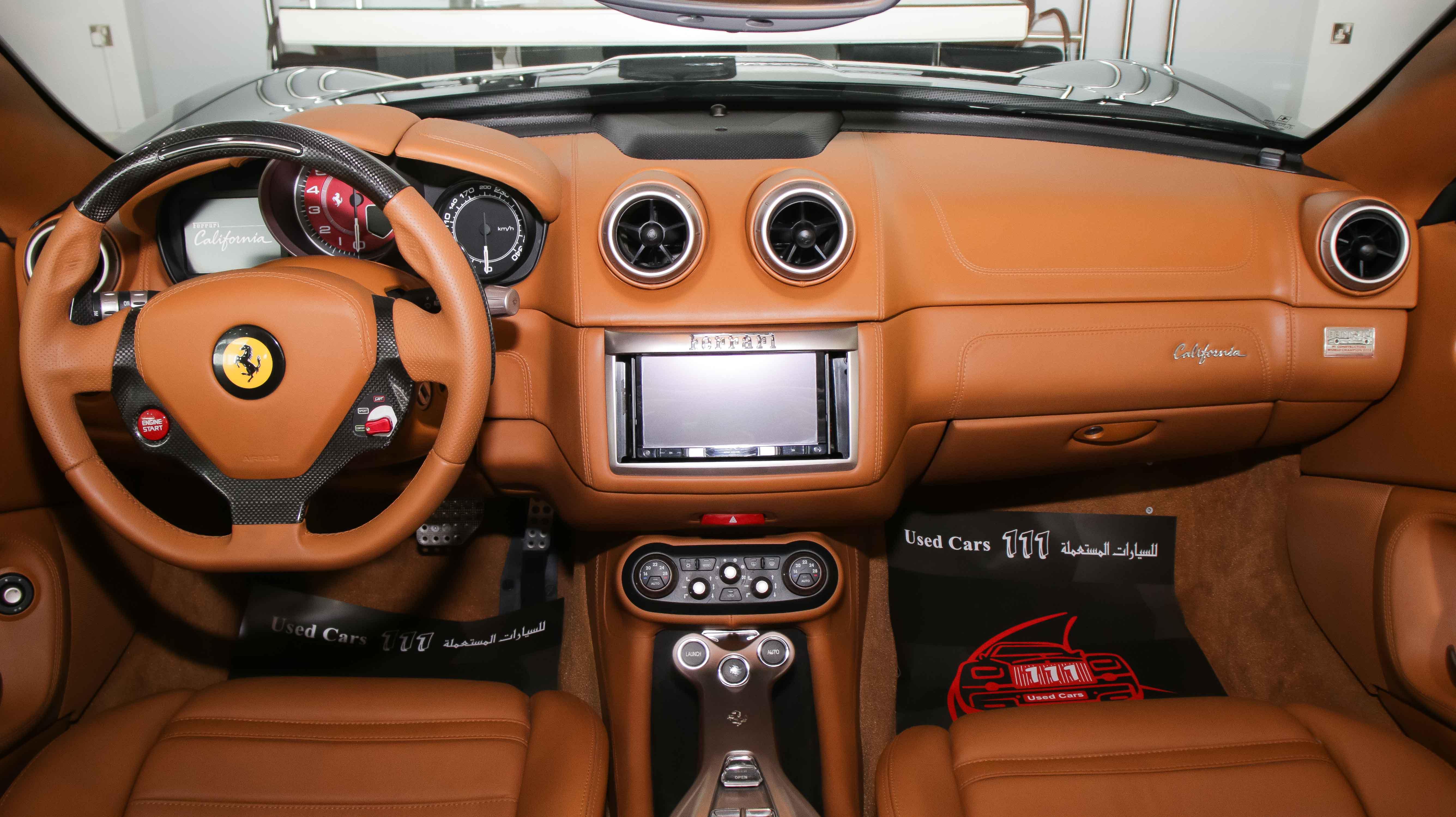 2010 Ferrari California Black Beige 06 Kargal Dealers Uae